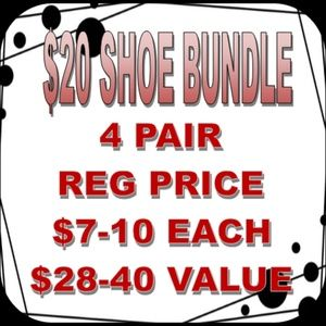 Bundle Shoes for Savings 4 Pair for $20